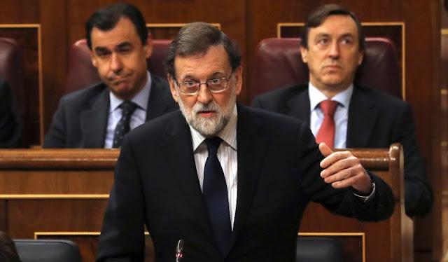 A M. Rajoy, le aplastó la corrupción.los corruptos del PP... ¡BENDITOS DE DIOS VAYAN!....