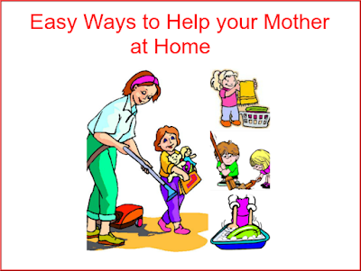 Helping mother at home