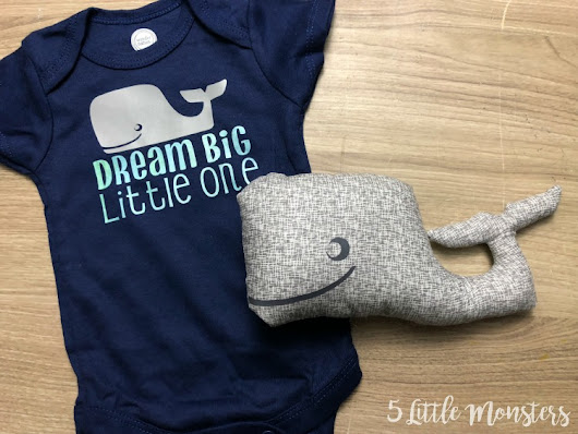 Whale Baby Set with the Cricut Maker and EasyPress 2