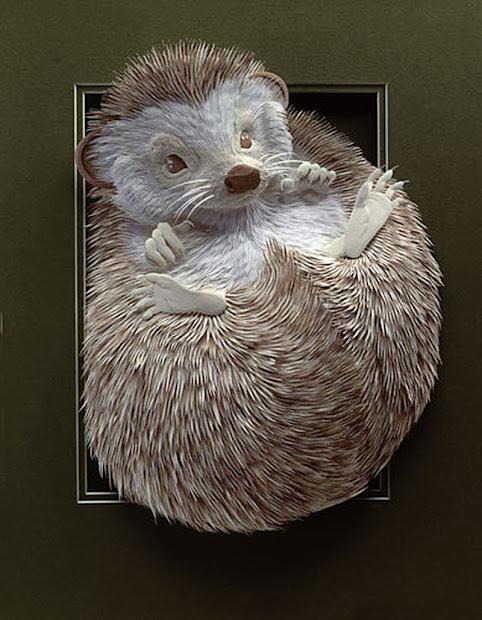 Art by Calvin Nicholls Paper Sculpture