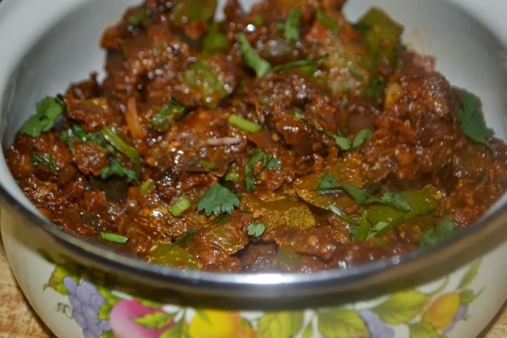 Food and Beyond: Brinjal capsicum curry  Food and Beyond...