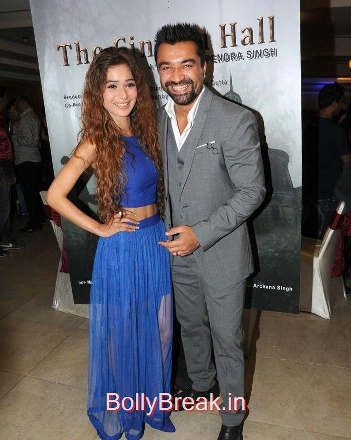 Sara Khan, Ajaz Khan, Hot Pics of Sara Khan, Jesse Kaur At 'The Cinema Hall' Movie Launch
