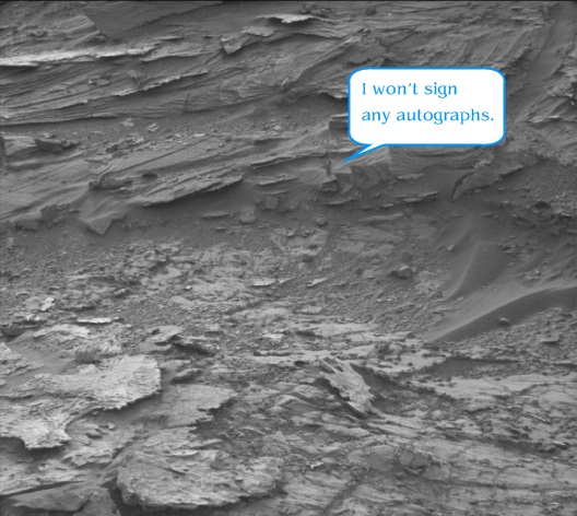 Does that picture from the #Curiosity rover on #Mars show a woman? Some people think so. But there's a far more likely explanation.