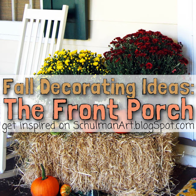 front porch decorating ideas for fall and autumn http://schulmanart.blogspot.com/2013/09/fall-decorating-ideas-for-outside.html