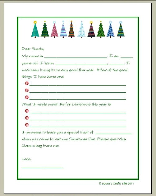 Letter+to+Santa - 30+ FREE Christmas Printables