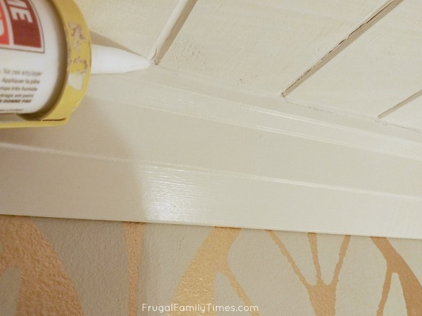 tongue and groove ceiling planks caulking