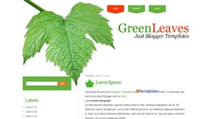 GreenLeaves Blogger Template