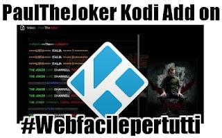 PaulTheJoker Kodi Add on - Liste IPTV, Sport, contenuti per bambini, film e serie tv