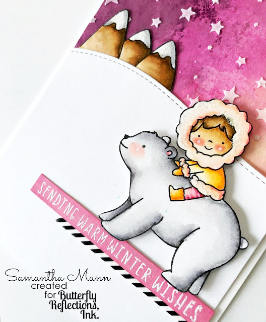 Sending Warm Winter Wishes Card by Samantha Mann, Neat & Tangled, Winter Card, Christmas, Watercolor, Distress Inks #neatandtangled #cards #witner #watercolor #distressinks