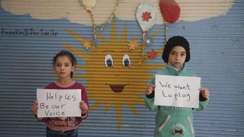 نور وآلاء تغردان خوف أطفال الغوطة الشرقية