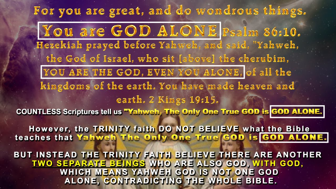 IS THE TRINITY THREE GODS OR ONE GOD?