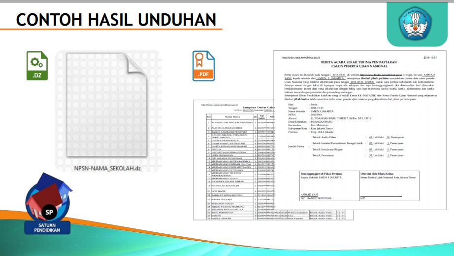 Panduan Aplikasi Pendaftaran Calon Peserta Ujian Nasional Sd Smp Sma