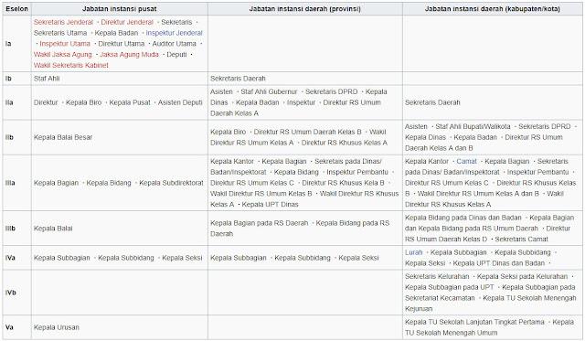 Daftar Pangkat Golongan PNS dari yang Rendah Hingga Jabatan Tinggi