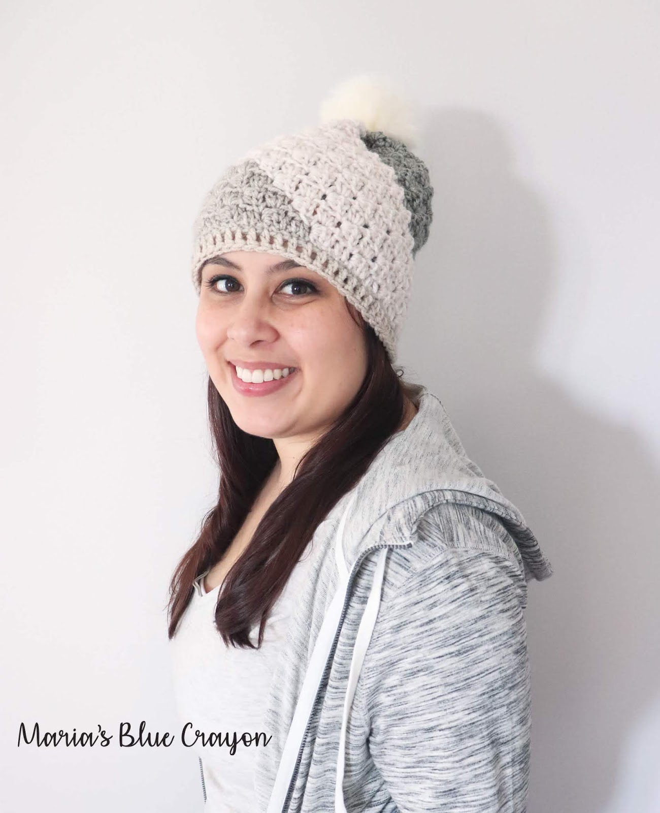 5cef65397 Don't Be A Square Beanie - Free Crochet Hat Pattern - Maria's Blue ...