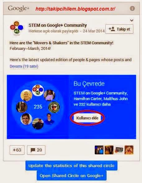 Google+ Plus Takipçi Kasma