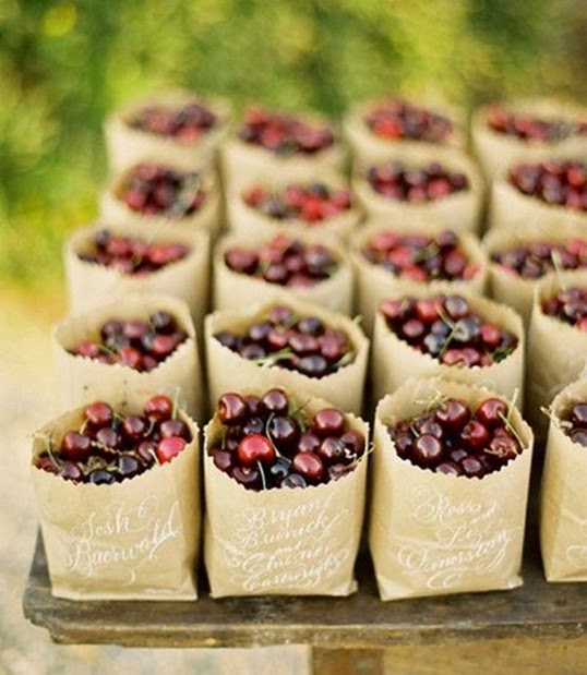 Cute DIY Wedding Favor Ideas fruit cherry