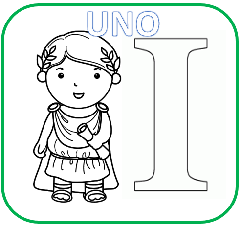 Matemáticas : Números romanos para colorear