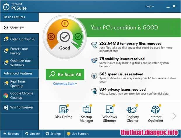Download TweakBit PCSuite 10.0.20.0 Full Cr@ck - Phần mềm tăng tốc máy tính