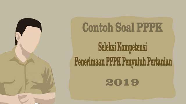 Contoh Soal Pppk 2019 – Seleksi Kompetensi P3k Eks Honorer K2 Penyuluh Pertanian