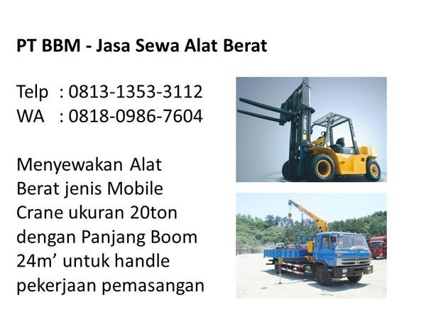 rental crane terbaik di indonesia