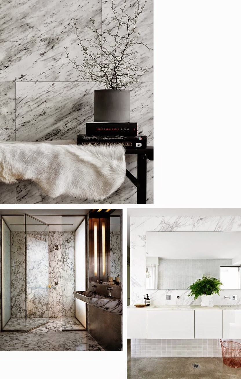 Marble, Marmer, Carrara, Bathroom, Lifestyleblog,Decoration, Design, Inspiration, Interior, Lifestyle, blog, Interior, Decoration, Home, Badkamer, Menu, Chunk of Marble, Andreas Engesvik, Nature, Stone, Modern, LaVieFleurit.com,