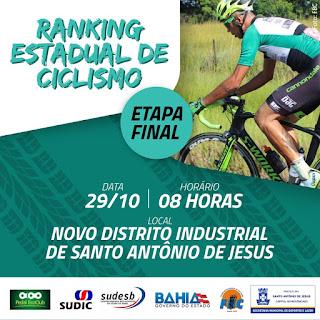 SAJ: recebe etapa final do ranking estadual de ciclismo