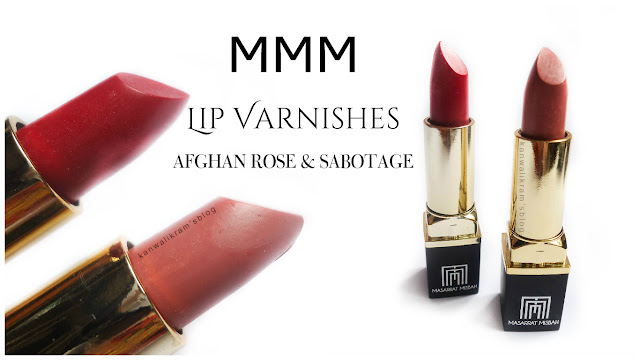 MMM Lip Varnishes Afghan Rose And Sabotage