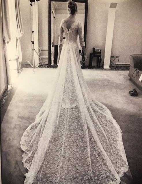 Pregnant Beatrice Borromeo wedding dress, Armani wedding dress, Beatrice Borromeo wedding ceremony