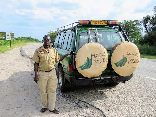Geoffrey Katende and our Matoke Tours vehicle
