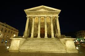 La Maison Carree, Or Square House, Located In Nimes France It Is An Ancient  Roman Temple It Was Founded As A Roman Colony During The First Century It  Is An ...
