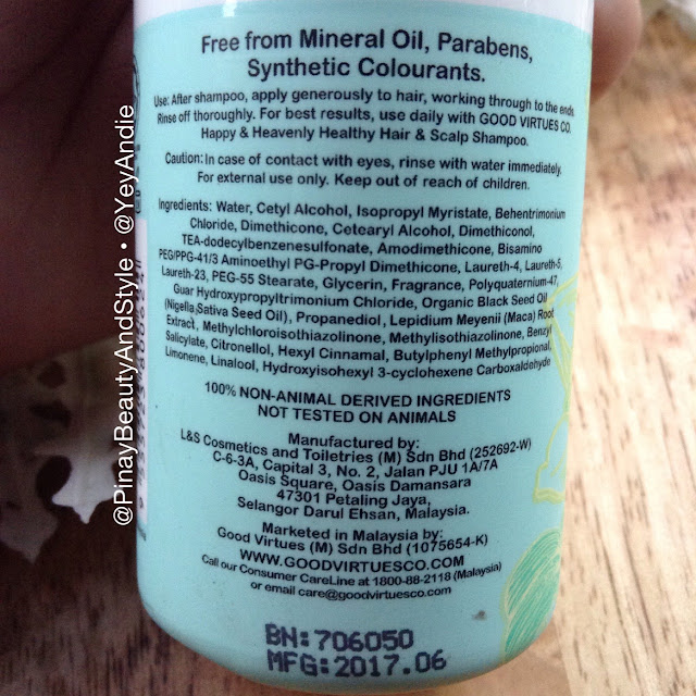 Ingredients Good Virtues Co Helpful and Delightful Conditioner