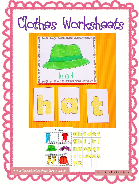Esl Efl Preschool Teachers Clothes Worksheets And