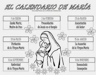 Calendario Mariano.Religion San Pablo Calendario De Las Fiestas De Maria
