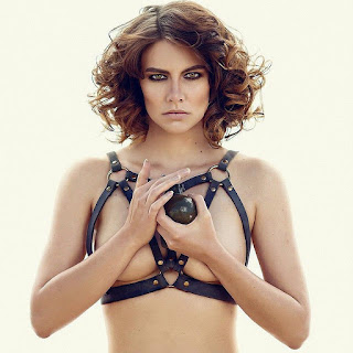 Topless Lauren Cohan of the Walking Dead