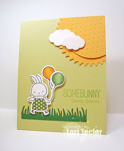 Somebunny Sends Smiles card-designed by Lori Tecler/Inking Aloud-stamps from My Favorite Things