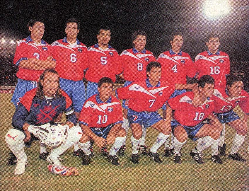 Formación de Chile ante Bolivia, amistoso disputado el 28 de abril de 1999