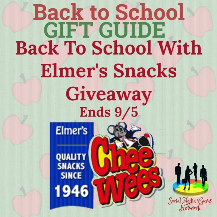 Back To School With Elmer's Snacks