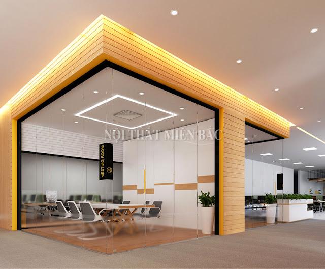 Những đường nét thiết kế ấn tượng trong thiết kế phòng họp này luôn toát lên nét đẹp sang trọng, gần gũi