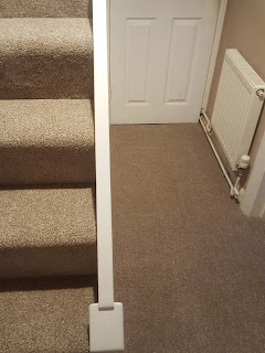 The Downstairs Hallway with new Carpet