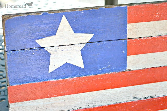 Rustic pallet wood American Flag DIY Tutorial