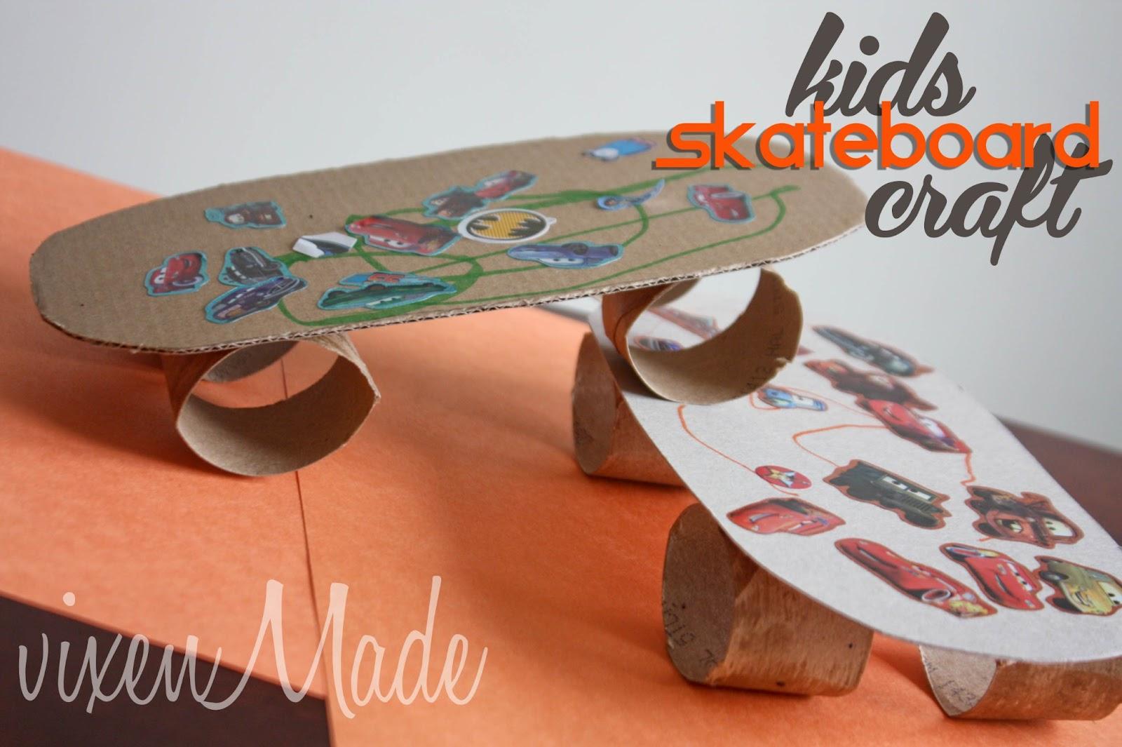 Kids Skateboard Craft Vixenmade Parties