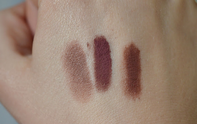 Makeup Geek Cherry Cola - Hello Waffle The Art of Witchcraft - Corvus Cosmetics Berenice swatch dupe