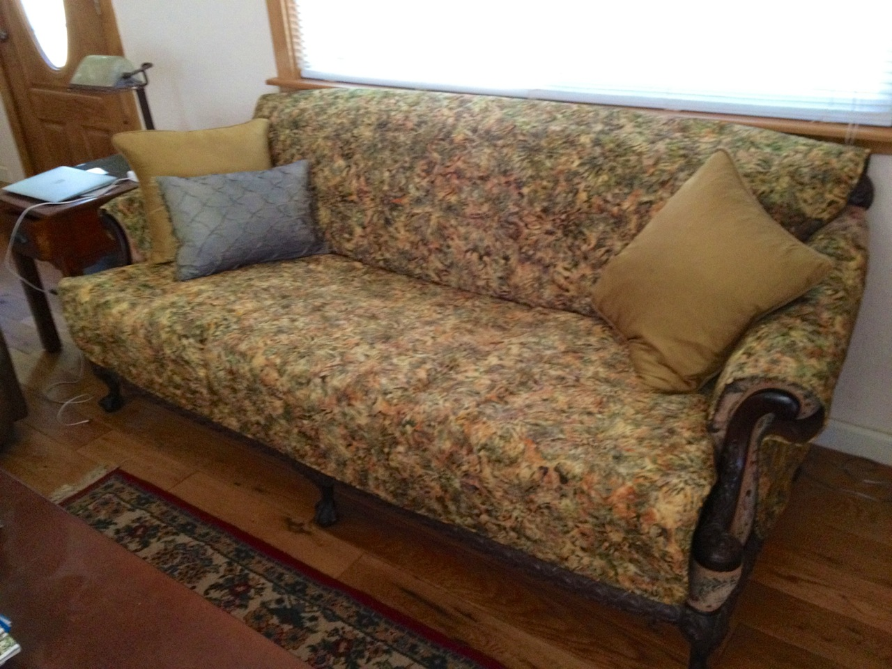 NickersMarie: Quilted Batik Couch And Chair Covers