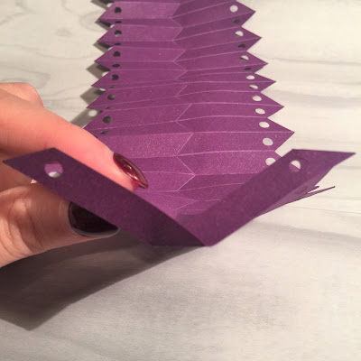 V pleat folds from Origami Tutorial using Silhouette Cameo by Nadine Muir from Silhouette UK Blog