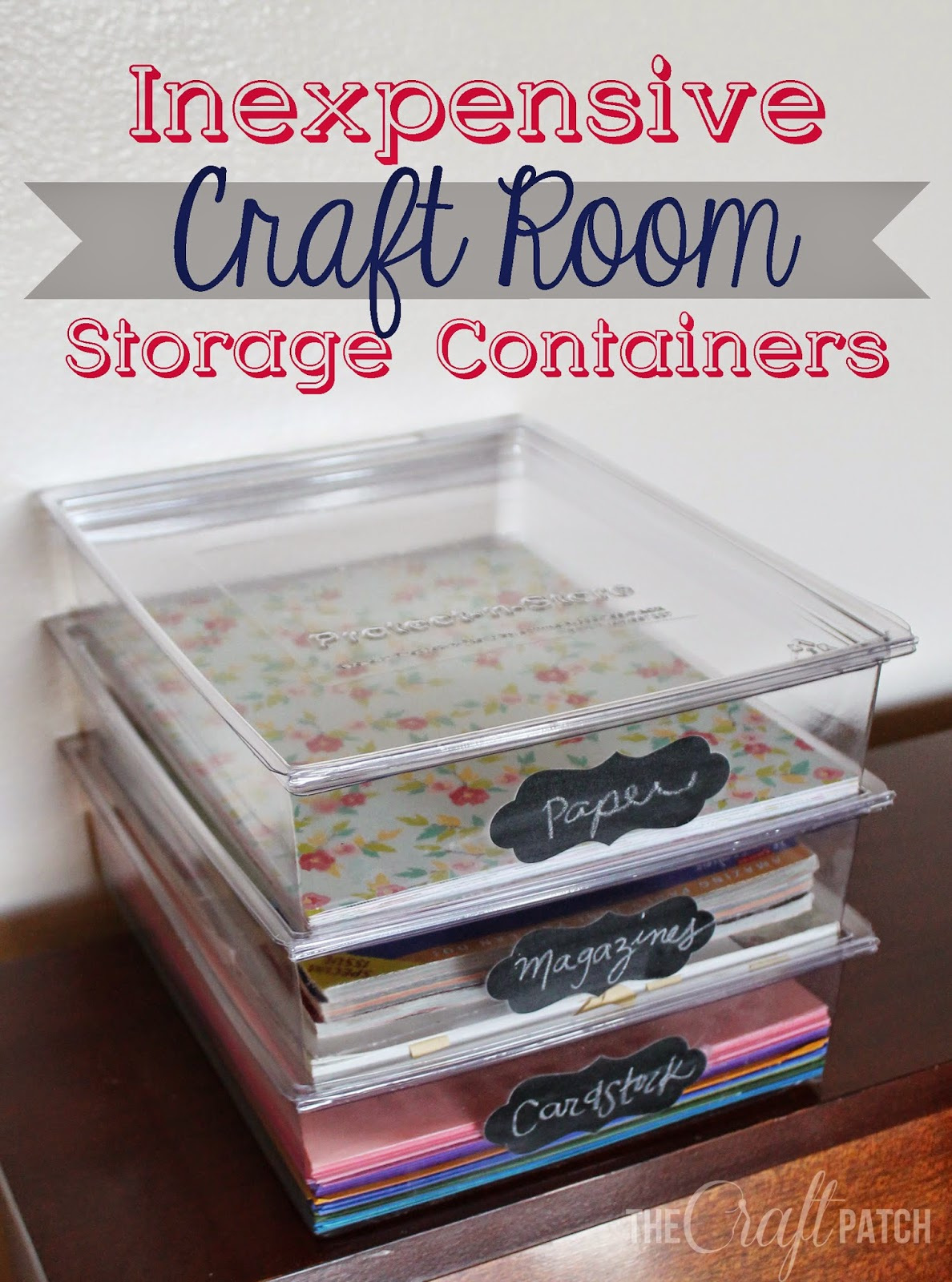 Inexpensive Craft Room Storage thecraftpatchblogcom