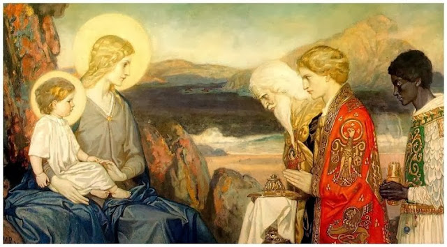 Adoration of the Magi John Duncan - 1915