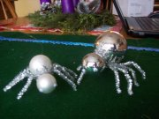 Christmas spider ornaments