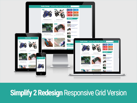Simplify 2 Redesign Responsive Grid Version Blogger Template