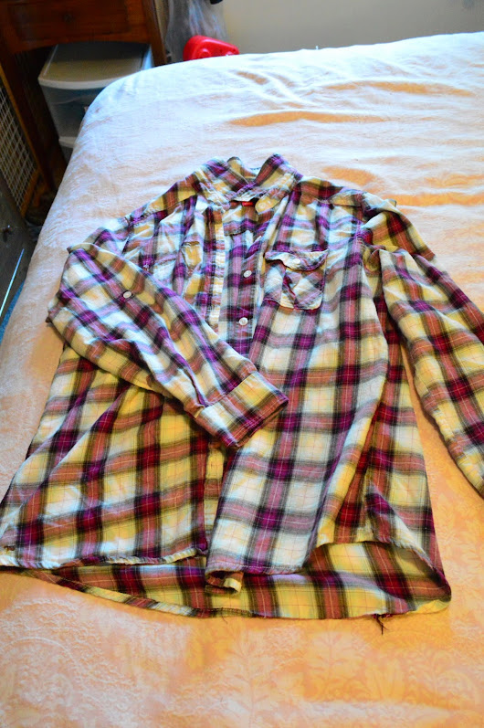 Flannel Shirt Refashion Tutorial #2