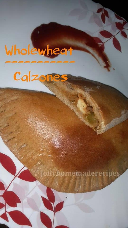 Calzone Recipe, How to make Veg Calzone Recipe | WholeWheat Calzones Recipe